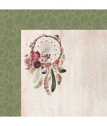 Papier do scrapbookingu Kaisercraft, kolekcja Gypsy Rose - łapacz snów