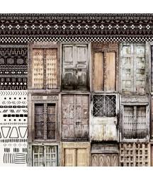 Papier do scrapbookingu Kaisercraft, kolekcja Gypsy Rose - drzwi