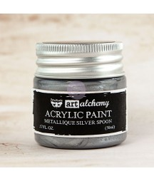 Farba metaliczna Prima Art Alchemy, Silver Spoon - srebrna