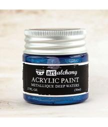 Farba metaliczna Prima Art Alchemy, Deep Waters - niebieska