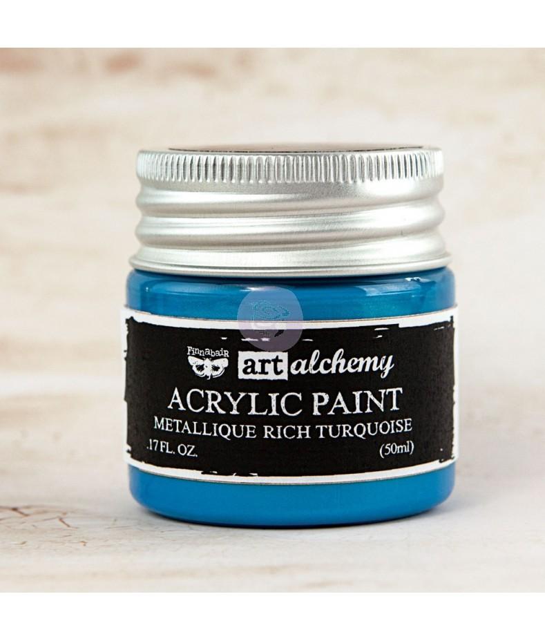 Farba metaliczna Prima Art Alchemy, Rich Turquoise - turkusowa