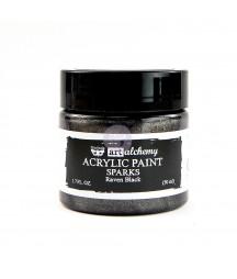Farba metaliczna Prima Art Alchemy, Raven Black - czarna