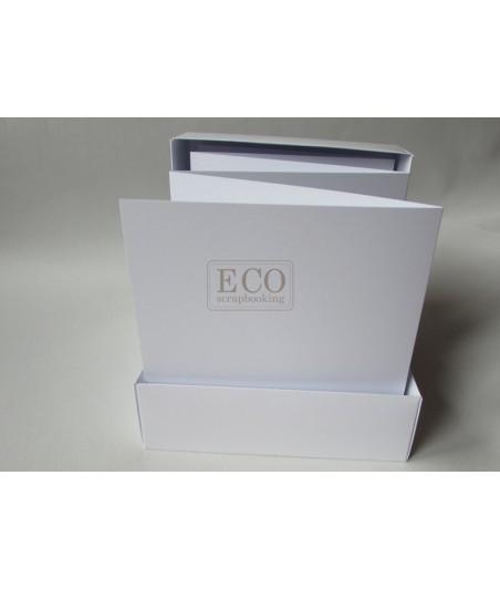 Baza albumowa - harmonijka 15.5x15.5, biała [Eco Scrap]