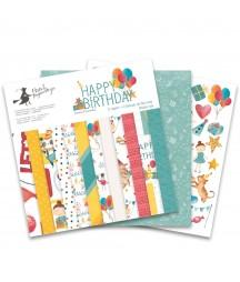 Zestaw papierów do scrapbookingu Happy Birthday - Piątek Trzynastego