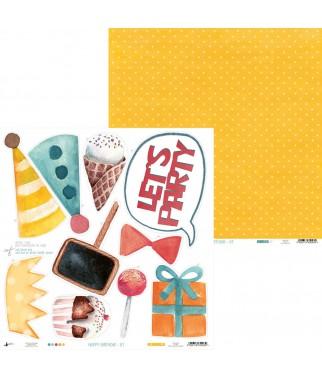 Papier do scrapbookingu z kolekcji Happy Birthday - Piątek Trzynastego