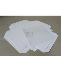 Pudełko na kartkę 160x160x25mm - białe z okienkiem [Eco Scrap]