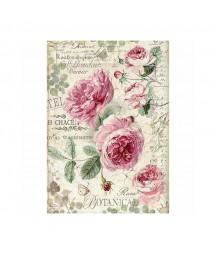 Papier ryżowy Stamperia A4. Botanic - róże angielskie