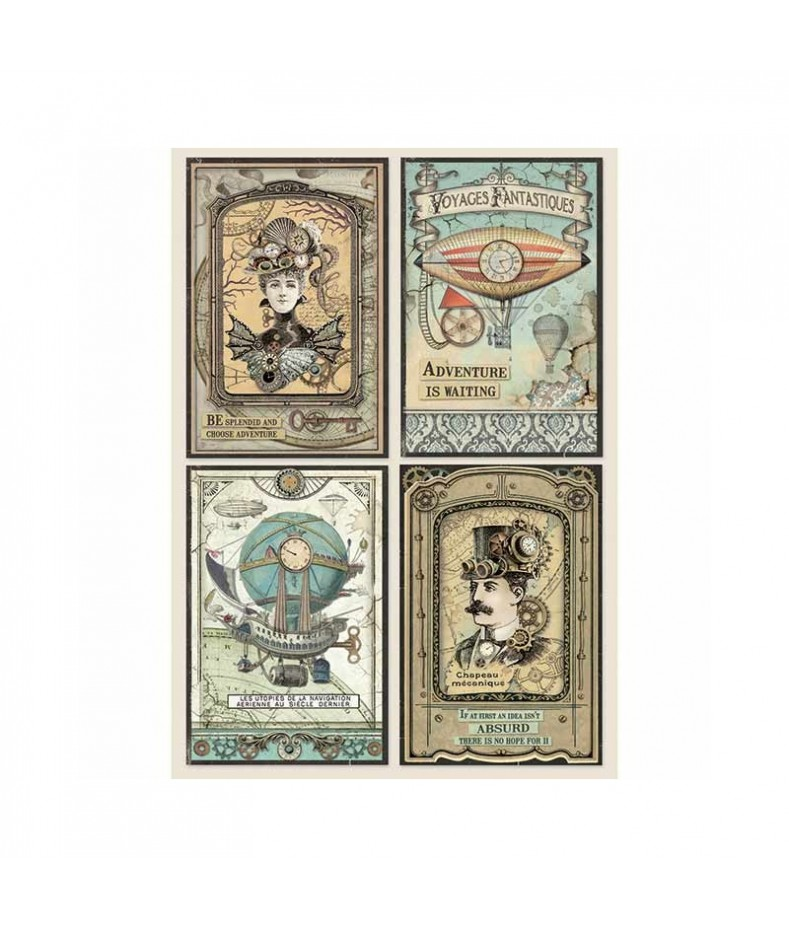 Papier ryżowy Stamperia A4. Voyages - dama i dżentelmen