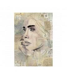 Papier ryżowy Stamperia A4. Portret zamyślonej dziewczyny