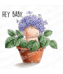 Stemple gumowe Stamping Bella, Hydrangea baby in a pot - hortensja