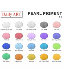 Pigment perłowy Daily Art, proszek mikowy, Deep Blue - głęboki niebieski, 5 g