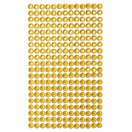 Kryształki samoprzylepne ECOnomy, Yellow 6 mm, 260 szt. [GRKR-061]