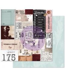 Papier do scrapbookingu Prima Marketing, Midnight Garden - Traveling Tickets