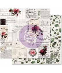 Papier do scrapbookingu Prima Marketing, Midnight Garden - Rose Receipts