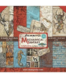 Bloczek do scrapbookingu, Stamperia SBBL54 - Mechanical Fantasy