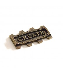 Element metalowy - napis Create w ramce