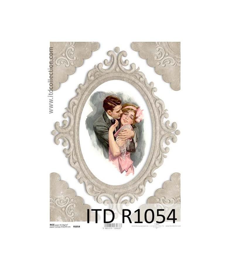 Papier ryżowy do decoupage ITD R1054 - Para w uścisku