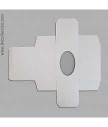Pudełko z białego kartonu na jajko, pisankę 12 cm ITD