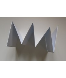 Baza albumowa do scrapbookingu, harmonijka 115x165, biała z białą okładką / Eco Scrapbooking