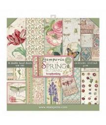 Zestaw papierów do scrapbookingu, Stamperia Spring Botanic SBBL50