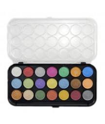 Farby akwarelowe perłowe Yasutomo 21 kolorów