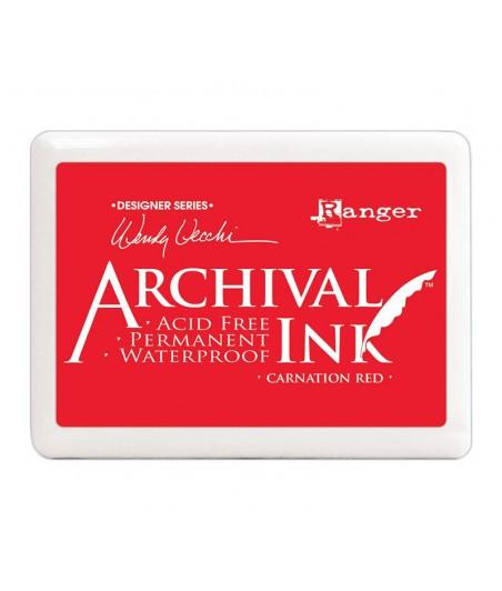 Tusz wodoodporny Archival, kolor Carnation Red - czerwony