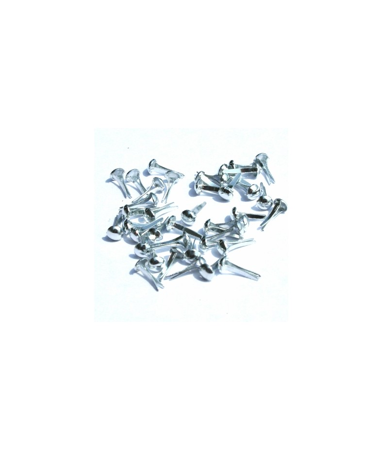 Ćwieki metalowe srebrne 4 mm