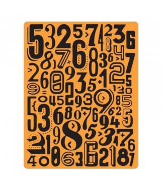 Folder do embossingu - wytłaczania, Sizzix Tim Holtz Numeric