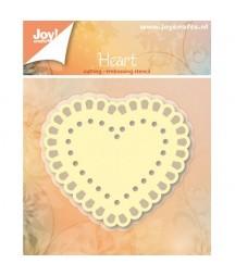 Wykrojnik Joy Crafts 6002/6200 Koronkowe serce