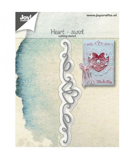 Wykrojnik Joy Crafts zawijaski z sercem 6002/1266