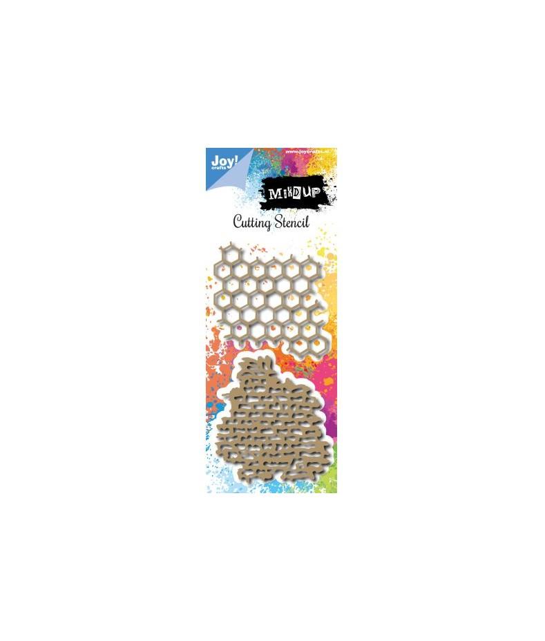 Wykrojniki Joy Crafts 6002/00979 tła mixed media - plaster miodu