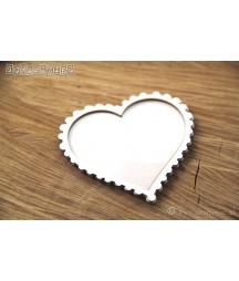 Tekturowy shaker box serce.