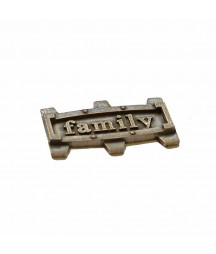 Element metalowy - napis Family w ramce