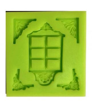 Forma silikonowa 3D - okno i ornamenty