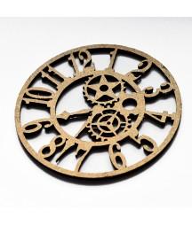 Dekor z HDF - Arabic Clock - zegar z cyframi arabskimi - produkty do decoupage i mixed media