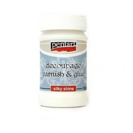 Klej i lakier do decoupage Pentart 100 ml - silky shine