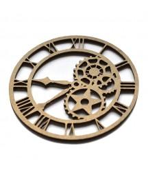 Dekor z HDF - Romanian Clock - zegar z cyframi rzymskimi - produkty do decoupage i mixed media