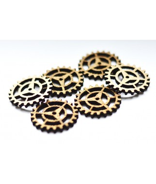 Dekory z HDF - Trybiki - Gears G - 30 mm - produkty do decoupage i mixed media
