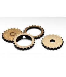 Dekory z HDF - Trybiki - Gears CD - 35 mm - produkty do decoupage i mixed media