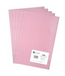 Filc w arkuszach poliestrowy - kolor jasnoróżowy