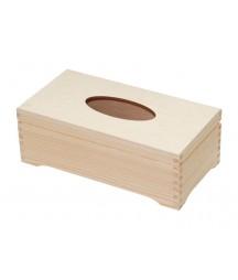 Chustecznik drewniany do decoupage na nóżkach