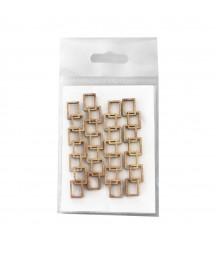 Dekory z HDF - Łańcuszki małe z prostokątnymi oczkami - produkty do decoupage i mixed media