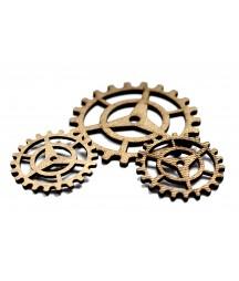Dekory z HDF - Trybiki - Gears G - mix rozmiarów - produkty do decoupage i mixed media