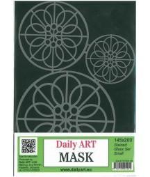 Maska Daily Art, format A5, motyw - witraże
