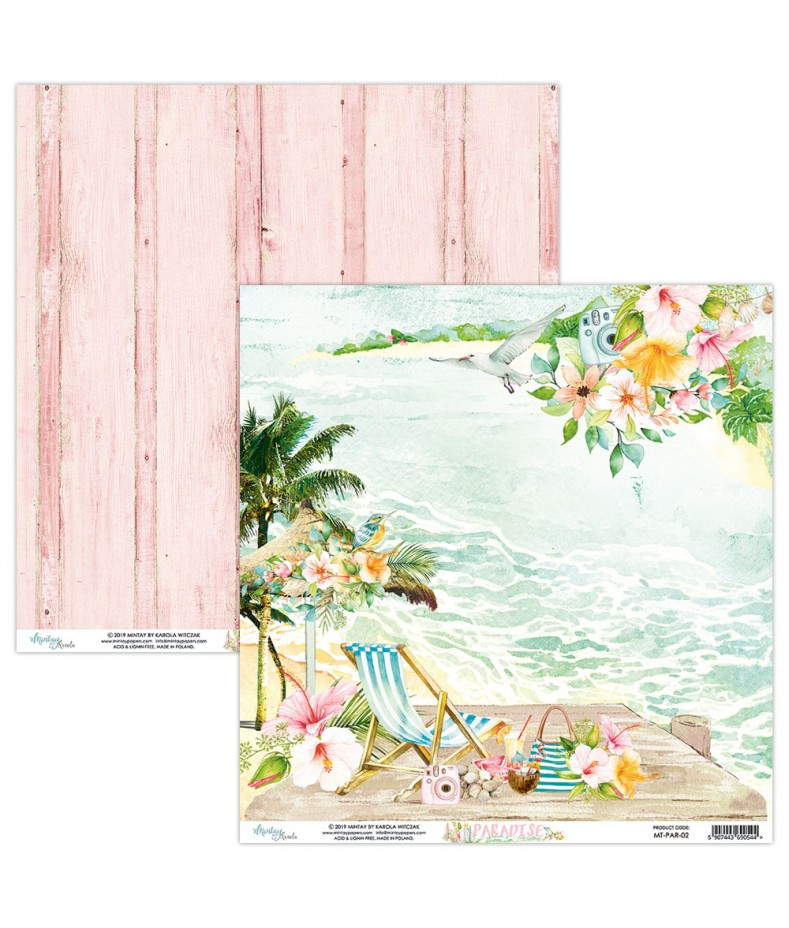 Papier do scrapbookingu Mintay Papers - Paradise 02