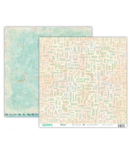 Papier do scrapbookingu 12x12, LightHOUSE - breeze [UHK]