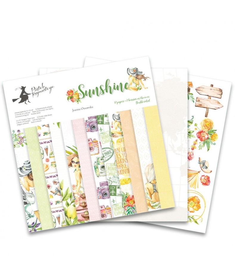 Zestaw papierów do scrapbookingu Sunshine - Piątek Trzynastego