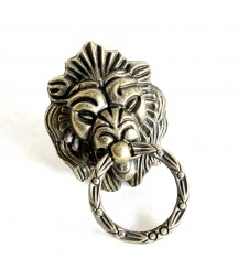 Okucia do decoupage - uchwyt metalowy głowa lwa