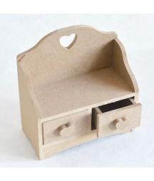 Pojemnik z szufladkami z MDF - do decoupage
