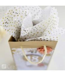 Bibuła dekoracyjna do pakowania - zestaw szary DPBI-001, 25 arkuszy